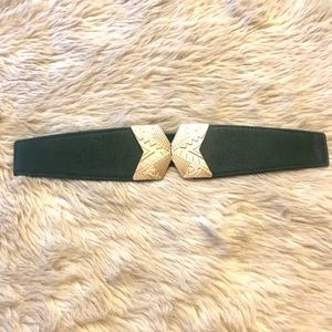 Green and Gold Tribal Trendy Belt